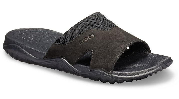 6a013234c965c Details about Crocs Mens Swiftwater™ Leather Slide