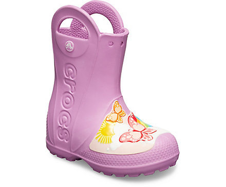 Kids' Crocs Fun Lab Butterfly Rain Boot