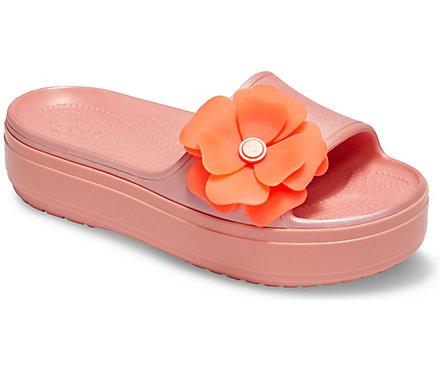 2678af05394b Crocband™ Platform Vivid Blooms Slide - Crocs
