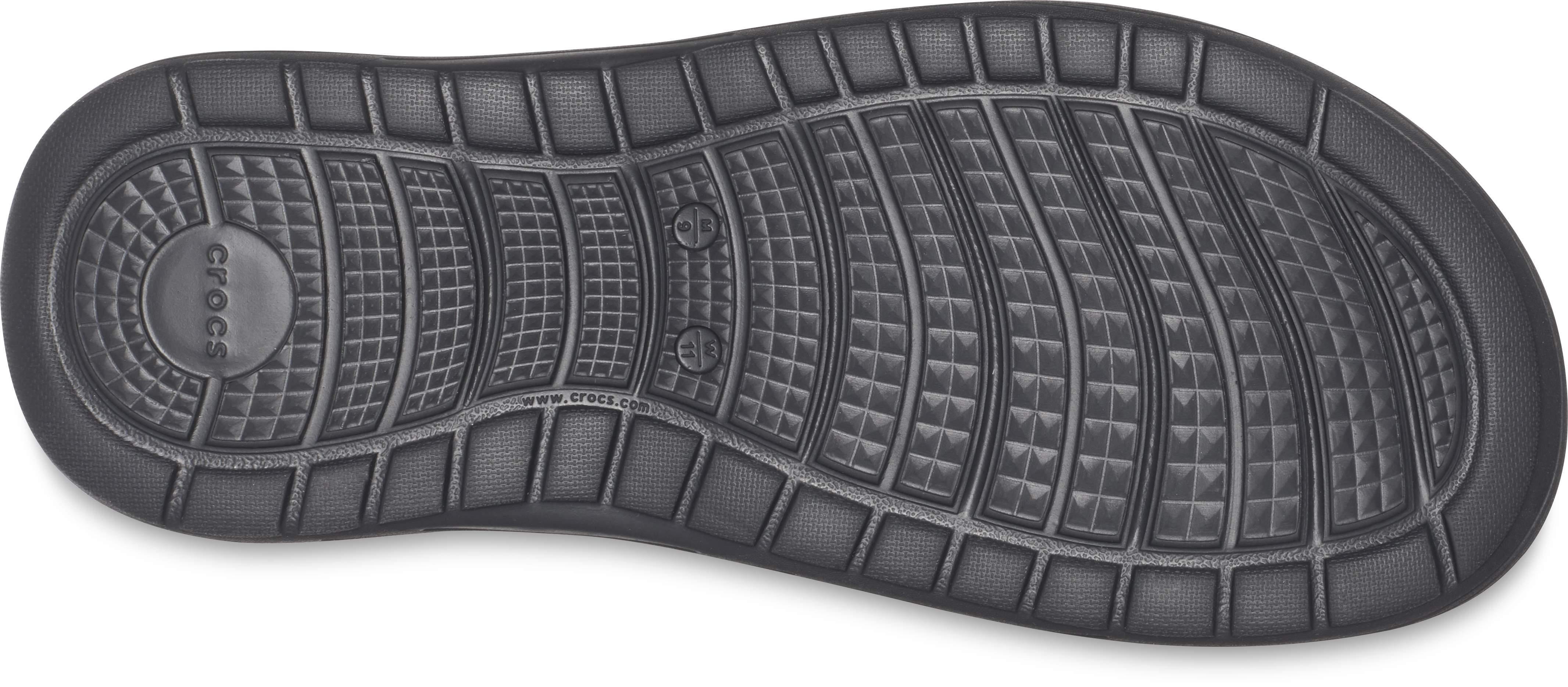 crocs Zehensteg Reviva Flip Schwarz Slate Grau Croslite Normal Unisex