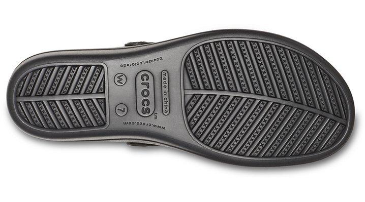 Crocs-Womens-Sanrah-Liquid-Metallic-Wedge-Flip thumbnail 11