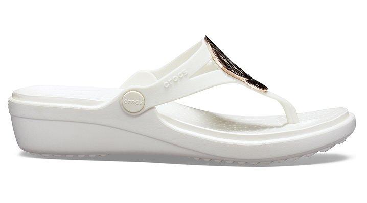 Crocs-Womens-Sanrah-Liquid-Metallic-Wedge-Flip thumbnail 26