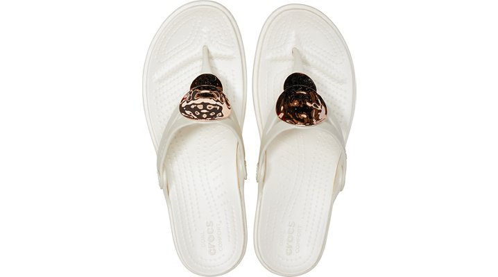 Crocs-Womens-Sanrah-Liquid-Metallic-Wedge-Flip thumbnail 28