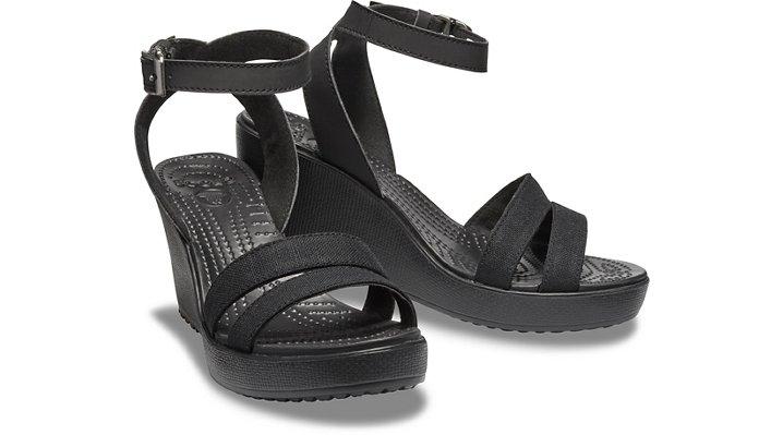 Crocs-Womens-Leigh-Sandal-Wedge thumbnail 15