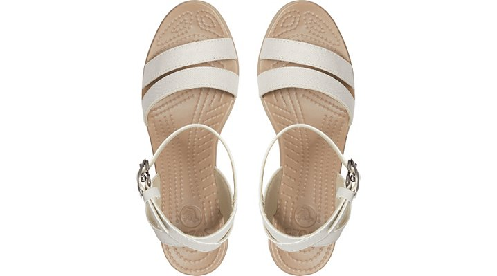 Crocs-Womens-Leigh-Sandal-Wedge thumbnail 10