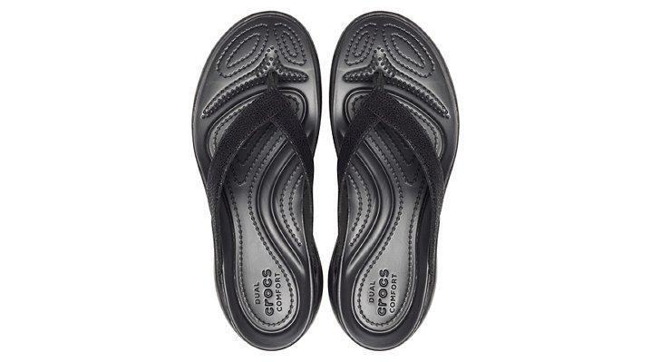 Crocs-Womens-Capri-Metallic-Texture-Wedge-Flip thumbnail 10