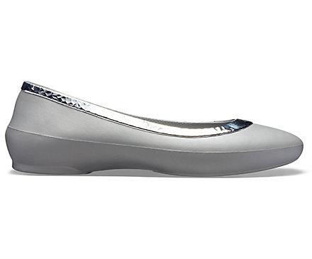 f9fbede7ea546 Women's Crocs Lina Hammered Metallic Flat - Crocs