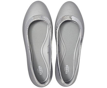 34d60ae4d9308 Women's Crocs Lina Hammered Metallic Flat. review this product! previous  item‹. Angle. Side. Pair. Top