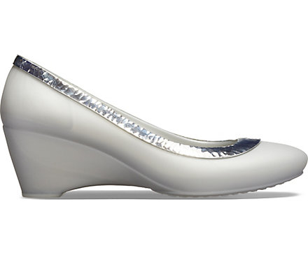 2e488a11f6 Women's Crocs Lina Hammered Metallic Wedge - Crocs