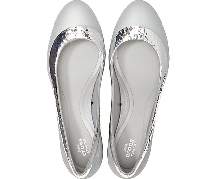 00e2957bee3bc Women's Crocs Lina Hammered Metallic Wedge. review this product! previous  item‹. Angle. Side. Pair. Top