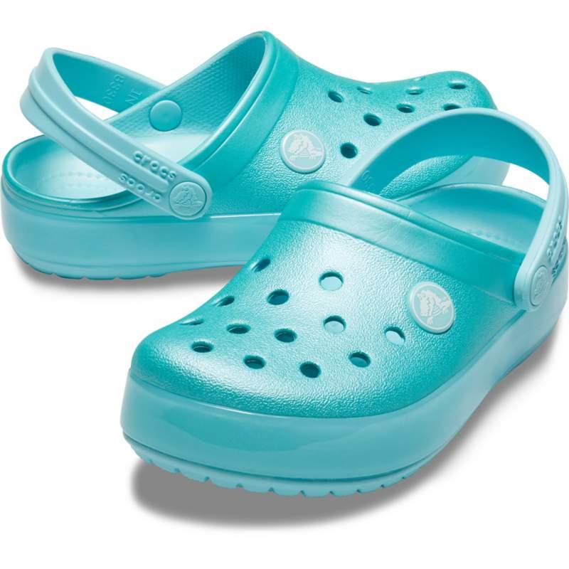 【クロックス公式】 クロックバンド アイス ポップ クロッグ キッズ Kids' Crocband Ice Pop Clog ユニセックス、キッズ、子供用、男の子、女の子、男女兼用 ブルー/青 15.5cm,18cm clog クロッグ サンダル 20%OFF