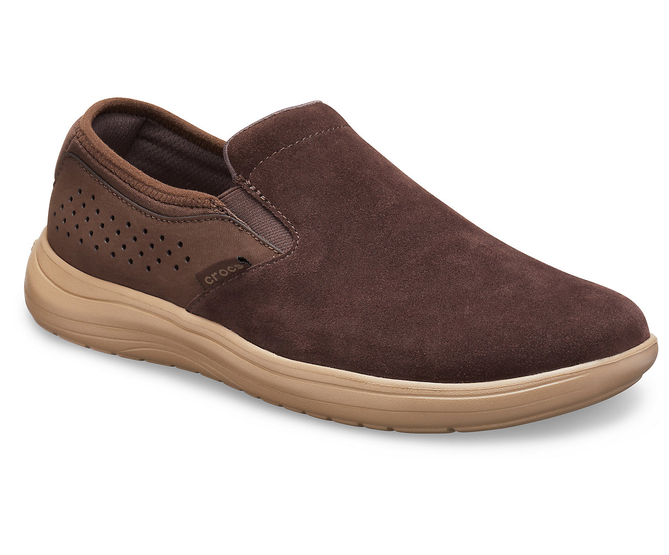 Crocs Men's Reviva Suede Slip-On Shoes