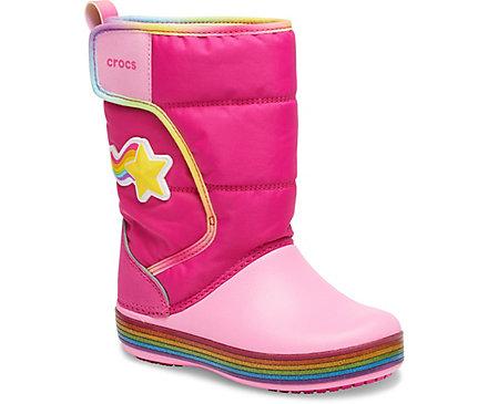 pretty nice e6731 b63f8 Girls' Crocs Fun Lab Rainbow Lights Snow Boot - Crocs