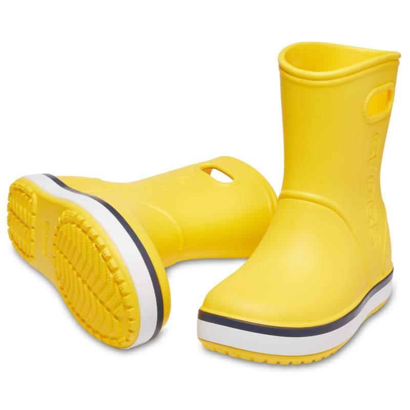 クロックス 公式オンラインショップ【クロックス公式】 クロックバンド レイン ブーツ キッズ Kids' Crocband Rain Boot ユニセックス、キッズ、子供用、男の子、女の子、男女兼用 イエロー/黄色 14cm,15cm,15.5cm,16.5cm,17.5cm,18cm,18.5cm,19cm,19.5cm,20cm,21cm boot ブーツ