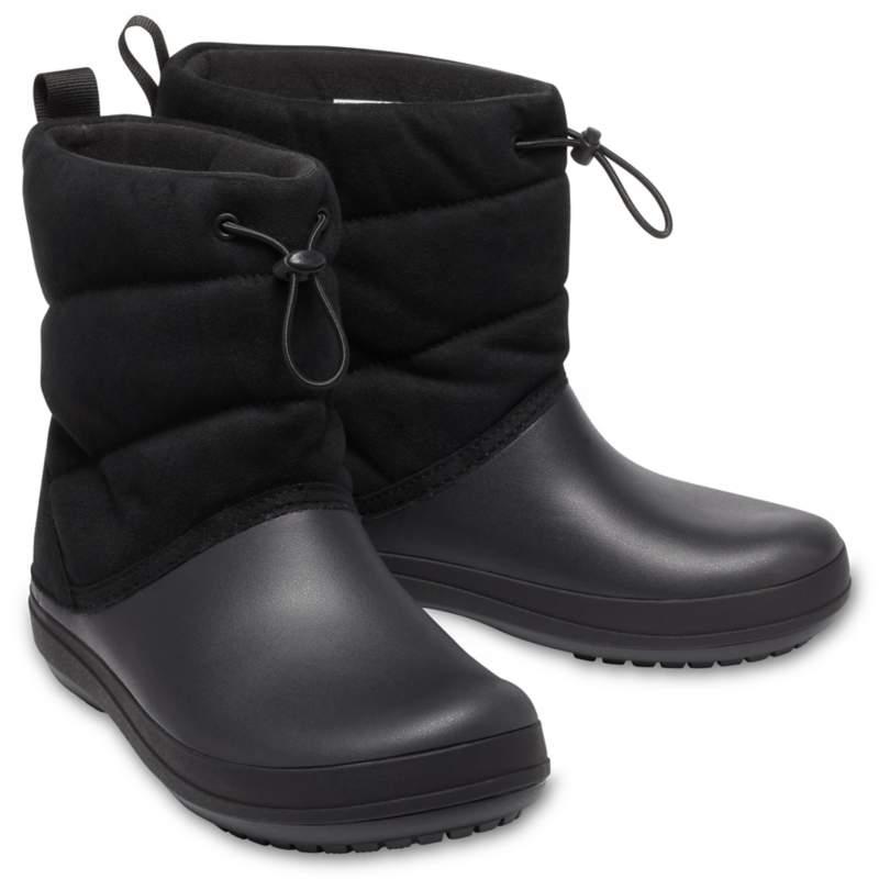 [クロックス公式] 長靴 クロックバンド パフ ブーツ ウィメン レディース、ウィメンズ、女性用 ブラック/黒 21cm Women's Crocband Puff Boot 50%OFF セール アウトレット