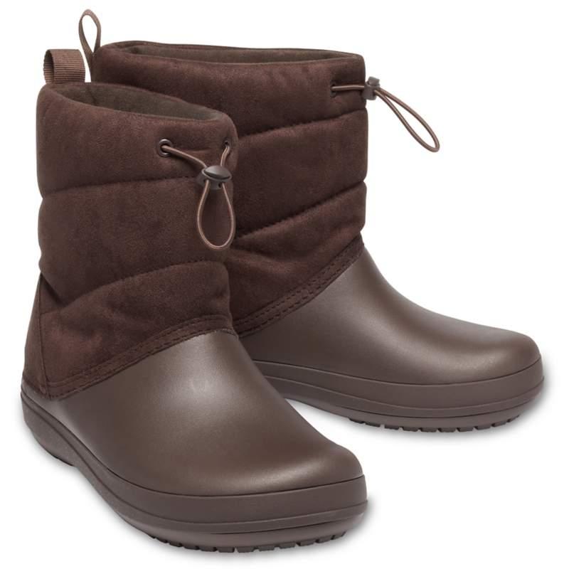 [クロックス公式] 長靴 クロックバンド パフ ブーツ ウィメン レディース、ウィメンズ、女性用 ブラウン/茶 24cm Women's Crocband Puff Boot 50%OFF セール アウトレット