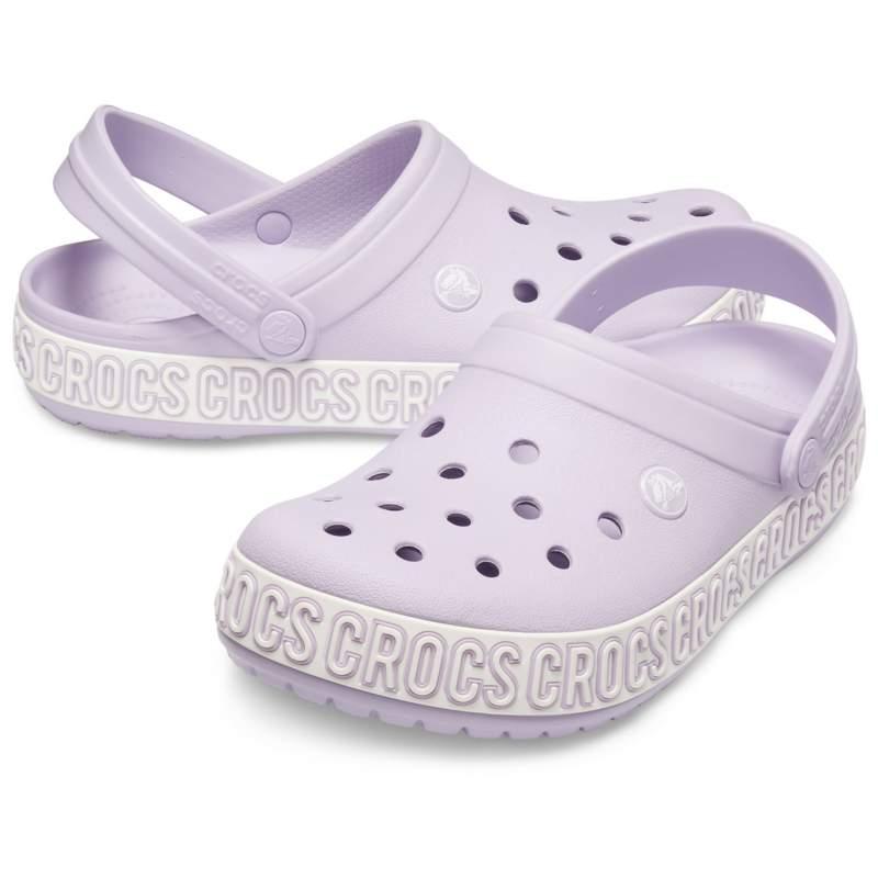 【クロックス公式】 クロックバンド ロゴ マニア クロッグ Crocband Logo Mania Clog ユニセックス、メンズ、レディース、男女兼用 パープル/紫 22cm,23cm,24cm,25cm,26cm clog クロッグ サンダル