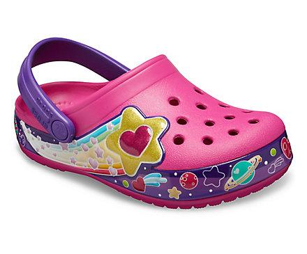 Girls' Crocs Fun Lab Galactic Hearts Clog