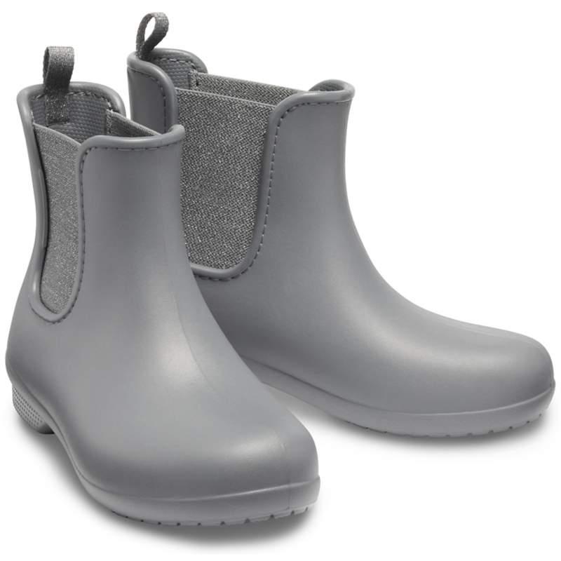 【クロックス公式】 クロックス フリーセイル マウント チェルシー ブーツ ウィメン Women's Crocs Freesail Metallic Chelsea Boot ウィメンズ、レディース、女性用 グレー/グレー 21cm,22cm,23cm,24cm,25cm boot ブーツ