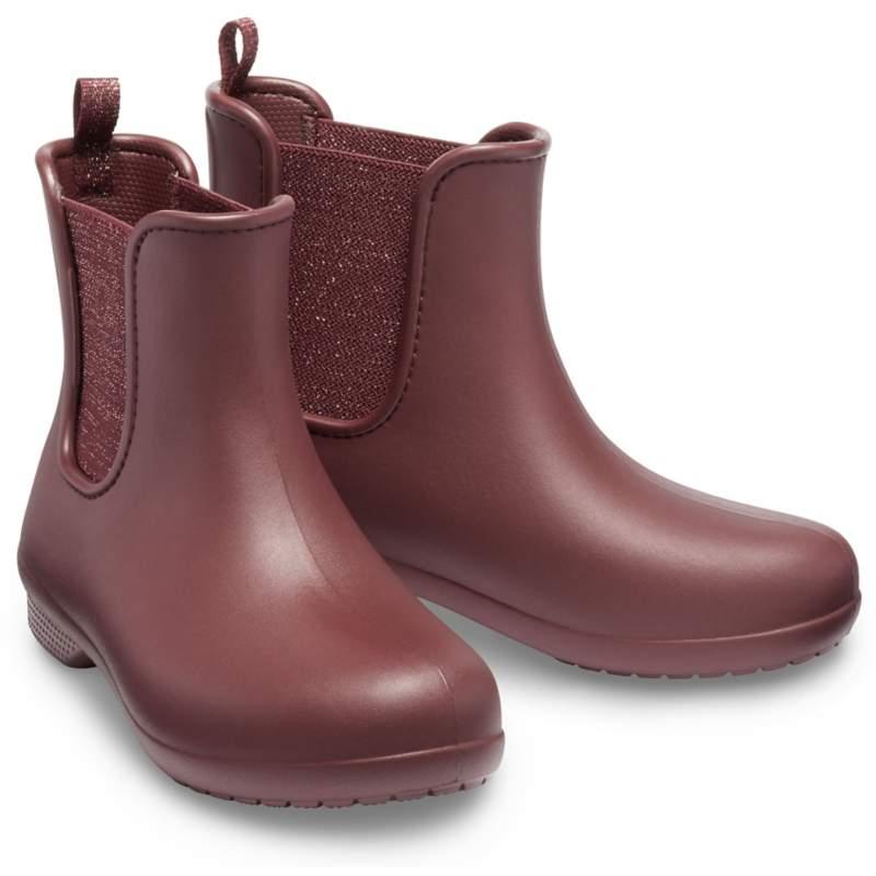 【クロックス公式】 クロックス フリーセイル マウント チェルシー ブーツ ウィメン Women's Crocs Freesail Metallic Chelsea Boot ウィメンズ、レディース、女性用 レッド/赤 21cm,22cm,23cm,24cm,25cm boot ブーツ