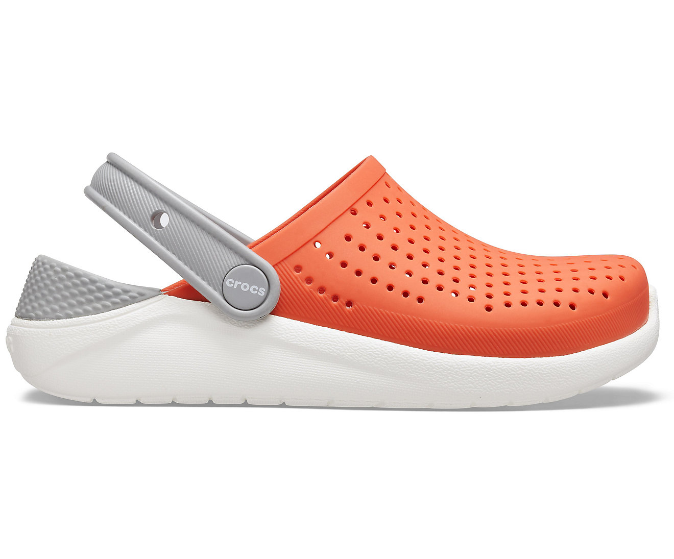 Crocs Literide Clog Kid's Tangerine/White