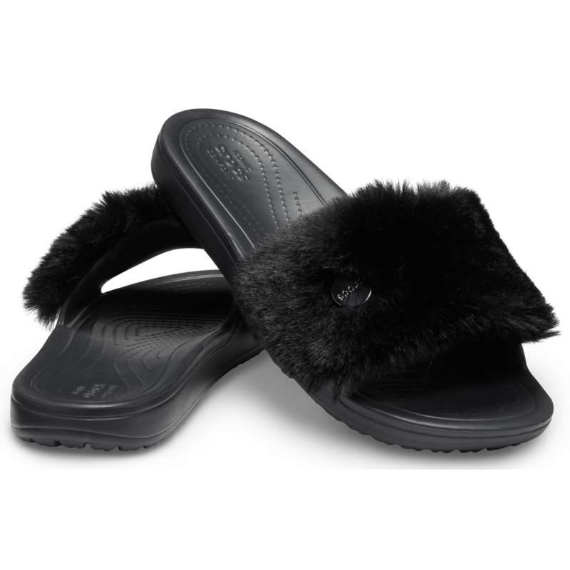【クロックス公式】 クロックス スローン ラックス スライド ウィメン Women's Crocs Sloane Luxe Slide ウィメンズ、レディース、女性用 ブラック/黒 21cm,22cm,23cm,24cm,25cm slide スライドサンダル スポーツサンダル シャワーサンダル サンダル
