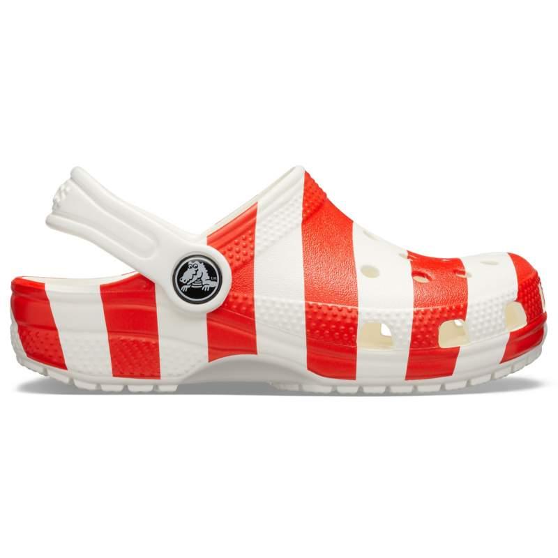 【クロックス公式】 クラシック アメリカン フラッグ クロッグ キッズ Kids' Classic American Flag Clog ユニセックス、キッズ、子供用、男の子、女の子、男女兼用 ホワイト/白,レッド/赤,ブルー/青 15.5cm,19cm clog クロッグ サンダル