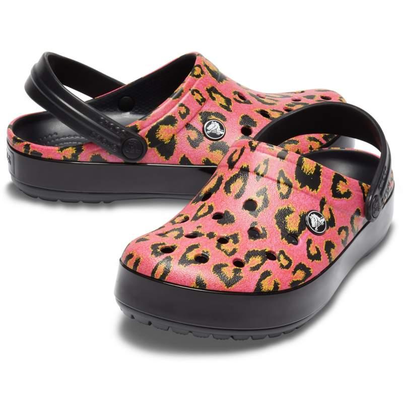 【クロックス公式】 クロックバンド ネオ レオパード クロッグ Crocband Neo Leopard Clog ユニセックス、メンズ、レディース、男女兼用 ピンク/ピンク 22cm,23cm,24cm,25cm clog クロッグ サンダル