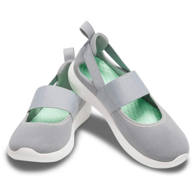 【クロックス公式】 ライトライド メリージェーン ウィメン Women's LiteRide Mary Jane ウィメンズ、レディース、女性用 グレー/グレー 20cm,21cm,22cm,23cm,24cm,25cm,26cm,27cm shoe 靴 シューズ 60%OFF