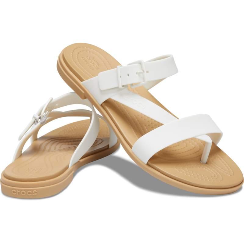 [クロックス公式] ビーチサンダル クロックス トゥルム トウ ポスト サンダル ウィメン レディース、ウィメンズ、女性用 ホワイト/白 25cm Women's Crocs Tulum Toe Post Sandal 20%OFF セール アウトレット