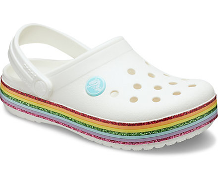 Kids' Crocband™ Rainbow Glitter Clog