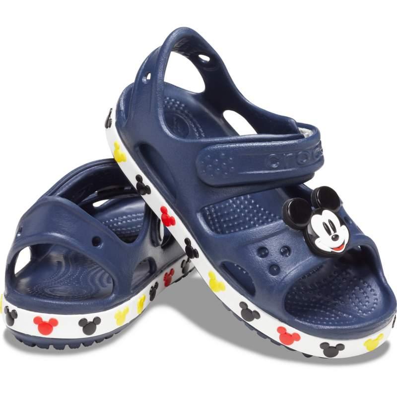 [クロックス公式] サンダル クロックス ファン ラブ クロックバンド 2.0 ディズニー 「ミッキーマウス」 サンダル キッズ ボーイズ、キッズ、子供用、男の子 ブルー/青 21cm Kids' Crocs Fun Lab Crocband II Dis