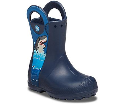 Boys' Crocs Fun Lab Shark Patch Rain Boot