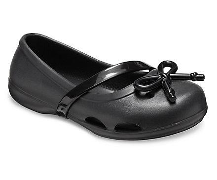 Kids' Crocs Lina Bow Charm Flat
