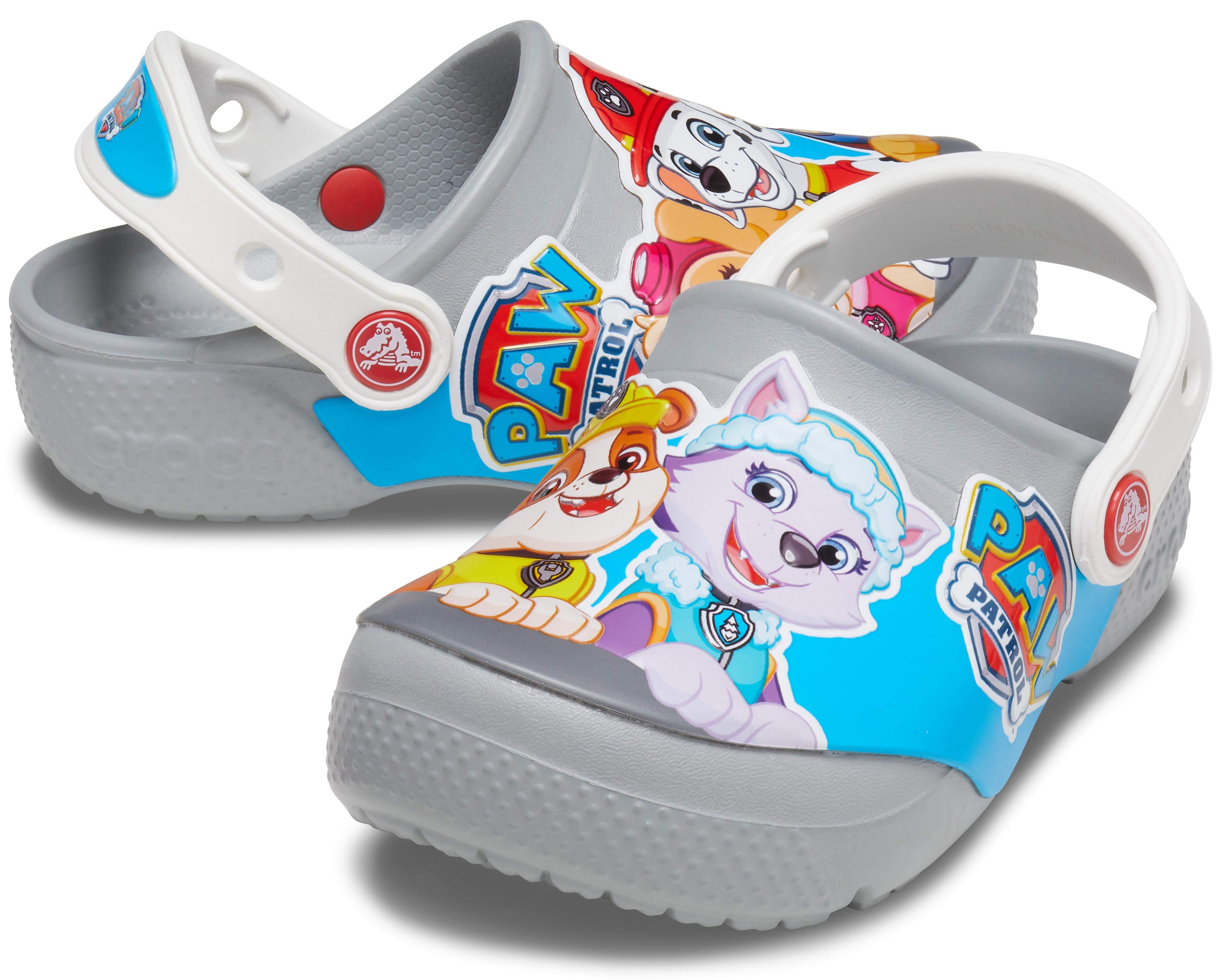 C9 M US Toddler Light Grey Crocs Baby Kids Paw Patrol Clog|Slip On Water Shoe