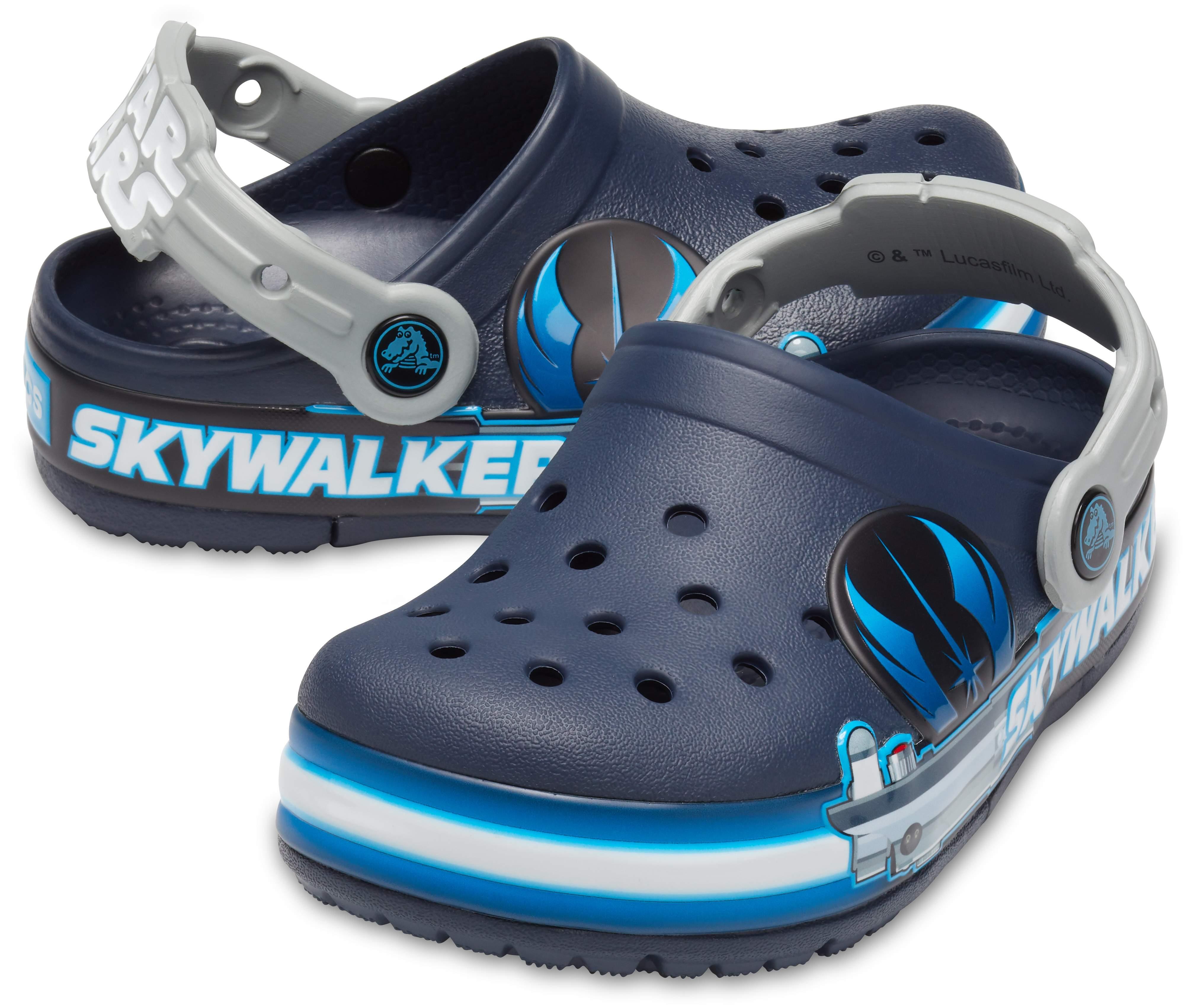 Girls Crocs Kids Fun Lab Dino Band Lights Clog Light Up Slip on Water Shoes for Boys