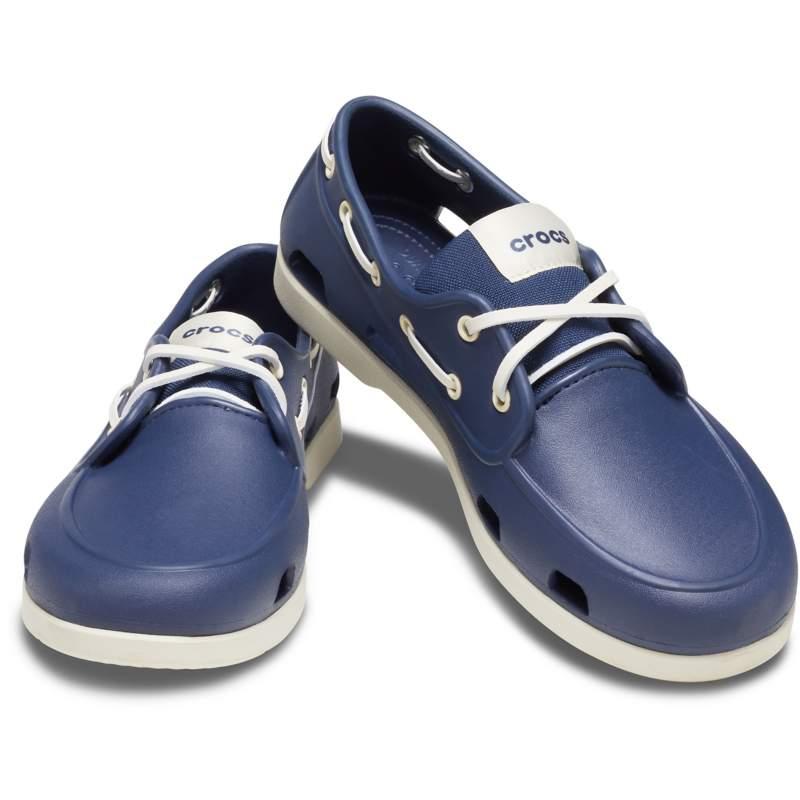 [クロックス公式] 靴 クラシック ボートシュー メン メンズ、男性用 ブルー/青 25cm Men's Classic Boat Shoe 28%OFF セール アウトレット