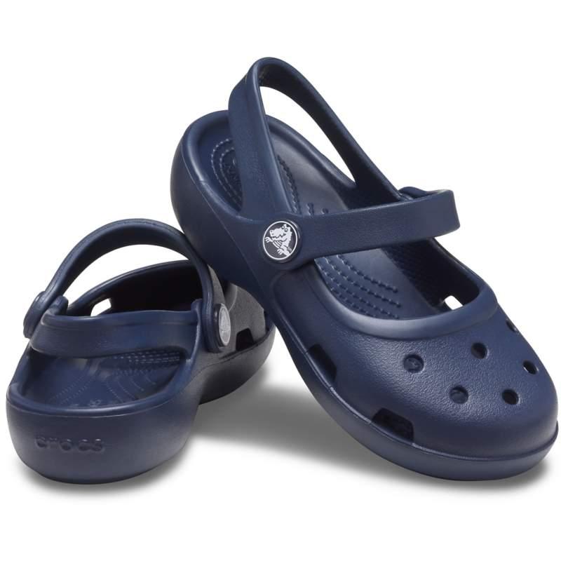 【クロックス公式】 クラシック メリージェーン キッズ Kids' Classic Mary Jane ガールズ、キッズ、子供用、女の子 ブルー/青 13cm,14cm,15cm,15.5cm,16.5cm,17.5cm,18cm,18.5cm,19cm,19.5cm,20cm,21cm shoe 靴 シューズ 20%OFF