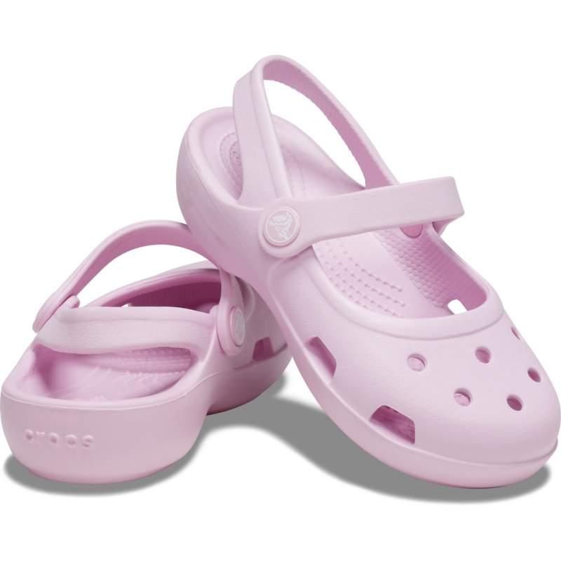 【クロックス公式】 クラシック メリージェーン キッズ Kids' Classic Mary Jane ガールズ、キッズ、子供用、女の子 ピンク/ピンク 15cm,15.5cm,16.5cm,17.5cm,18cm,18.5cm,19cm,19.5cm,20cm shoe 靴 シューズ