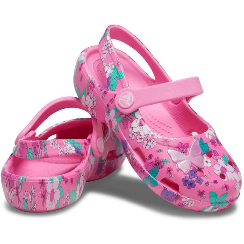【クロックス公式】 クラシック チャーム メリージェーン キッズ Kids' Classic Charm Mary Jane ガールズ、キッズ、子供用、女の子 ピンク/ピンク 14cm,15cm,15.5cm,16.5cm,17.5cm,18cm,18.5cm,19cm,19.5cm,20cm,21cm shoe 靴 シューズ 30%OFF