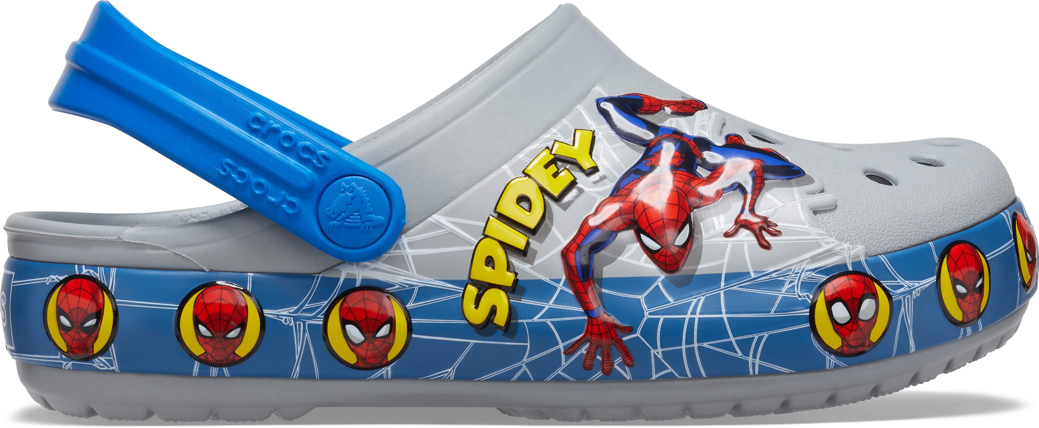 Crocs Kids Fun Lab Spiderman Light Up Clog Light Up Shoes for Kids
