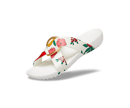 Women's Crocs Serena Printed Cross-Band Slide