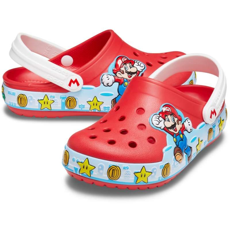 [クロックス公式] クロッグ クロックス ファン ラブ ライツ スーパー マリオ クロッグ キッズ キッズ、子供用、男の子、女の子 レッド/赤 15cm Kids' Crocs Fun Lab Super Mario Lights Clog