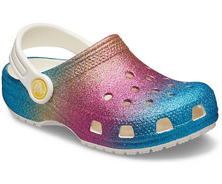 Kids' Classic Ombre Glitter Clog