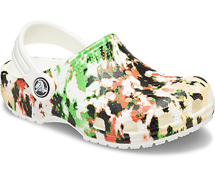 Boys Clog Classic Slingback Garden Shoes Tie-Dyed