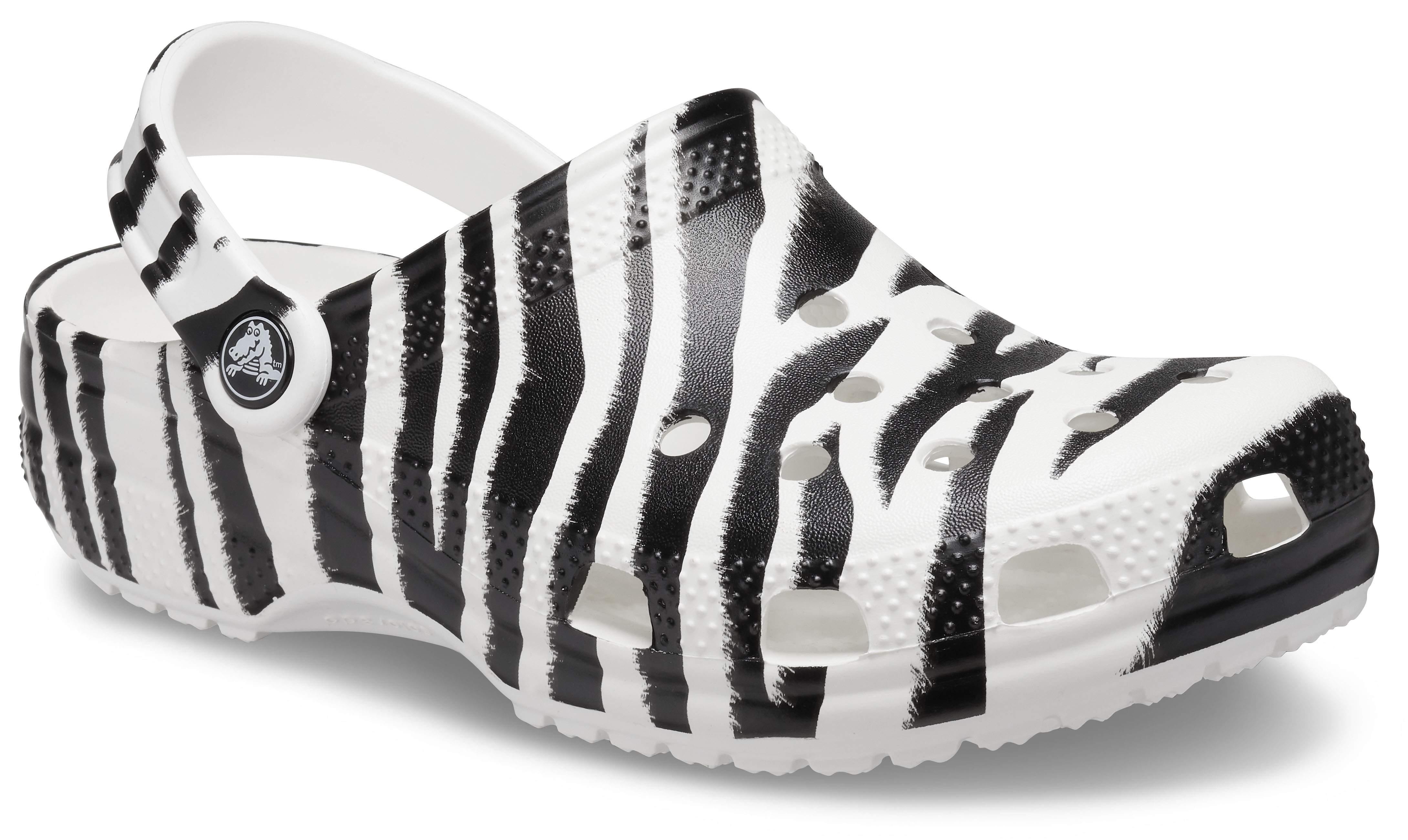 Zebra and Leopard Shoes Crocs Classic Animal Print Clog