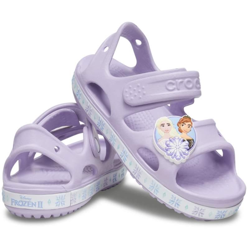 [クロックス公式] サンダル ファンラブ『アナと雪の女王2』サンダル キッズ ガールズ、キッズ、子供用、女の子 パープル/紫 13cm Kids' Crocs Fun Lab Disney 'Frozen II' Sandal