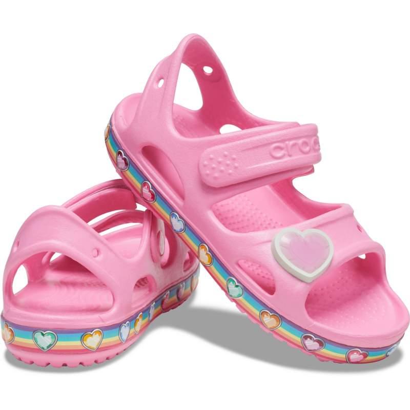 [クロックス公式] サンダル クロックス ファン ラブ レインボー サンダル キッズ ガールズ、キッズ、子供用、女の子 ピンク 14cm Kids' Crocs Fun Lab Rainbow Sandal 20%OFF セール アウトレット