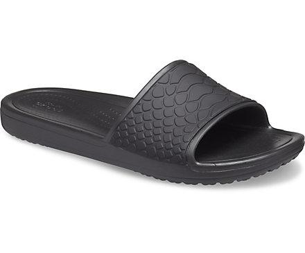 Women's Crocs Sloane Snake Low Slide