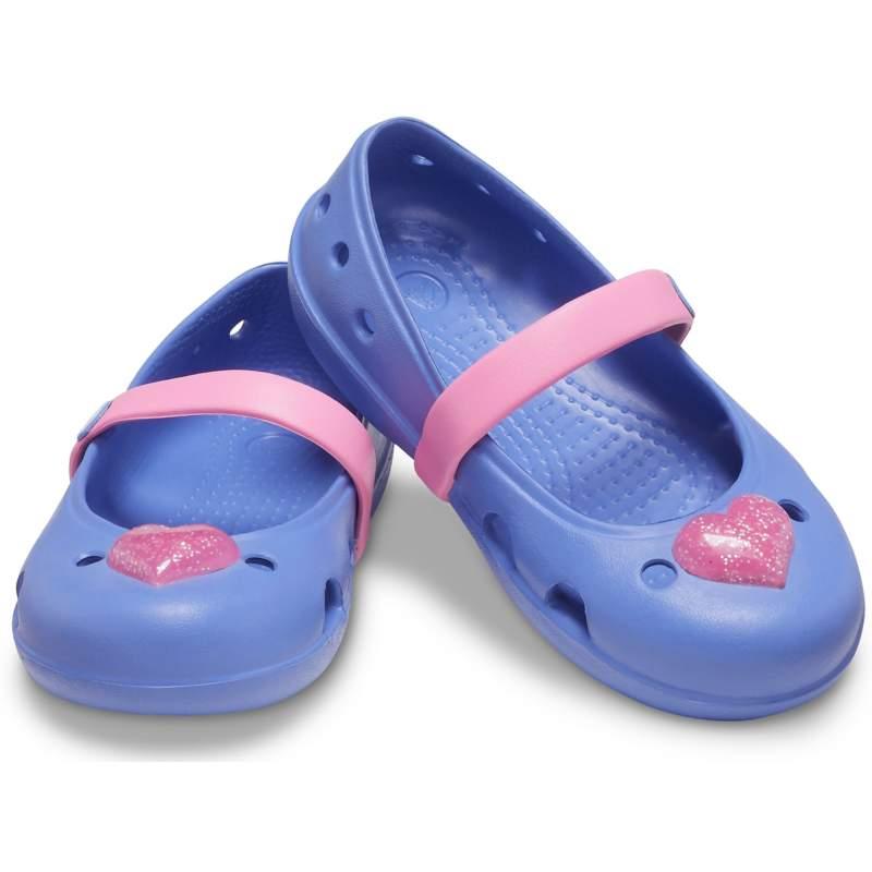 【クロックス公式】 クロックス キーリー エンベリッシュド フラット キッズ Kids' Crocs Keeley Embellished Flat ガールズ、キッズ、子供用、女の子 パープル/紫 14cm,15cm,15.5cm,16.5cm,17.5cm,18cm,18.5cm,19cm flat フラットシューズ バレエシューズ ぺたんこシューズ